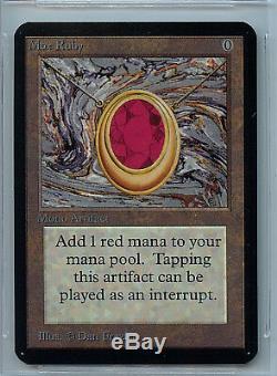 Mtg Alpha Mox Ruby Bgs 9,5 Gem Mint Magique Wotc Carte 8130
