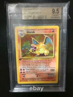 Pokemon En 1999 Glurak Charizard 1. Edition Bgs 9.5 Gem Mint Graded Base Set