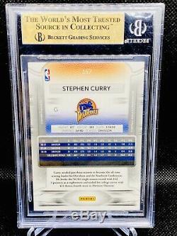 Stephen Curry 2009-10 Prestige Rookie Card # 157 Guerriers Gem Mint Bgs Rc 9.5
