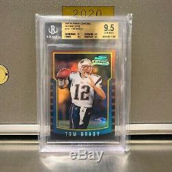 Tom Brady 2000 Rookie Chrome Bowman Refractor Rc # 236 Bgs 9.5 Gem Mint