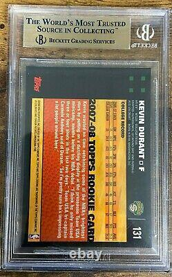 Topps 2007 Chrome Kevin Durant Rookie Rc #131 Bgs 9.5 Gem Mint
