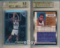 Vince Carter Raptors 1998 99 # 199 Chrome Topps Carte Rookie Rc Bgs 9,5 Gem Mint