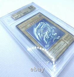Yugioh Bleu Yeux Dragon Blanc Bgs 9.5 Sm-51 Ultime Rare Vintage Psa