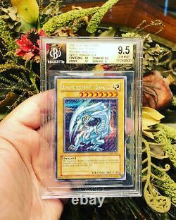 Yugioh Bleu Yeux Dragon Blanc Dds-001 Secret Rare Bgs 9.5 Psa 10 Menthe Gemme